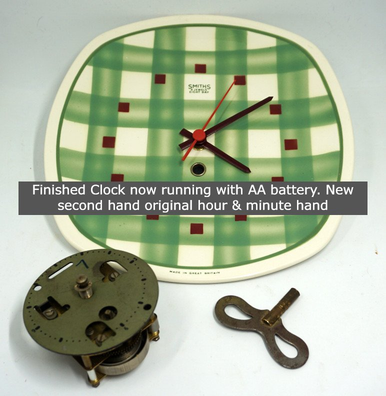 Let me convert your favourite old clock from CLOCKWORK to Quartz battery movement
